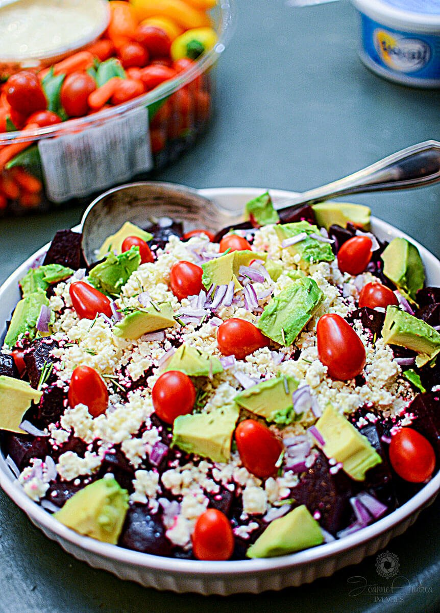 If you're totally digging the flavors of beets, I have another couple recipes you might want to check out. I have a kickass Beet  Avocado and Feta Salad recipe :