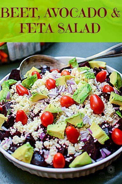 Beet Avocado Feta Salad