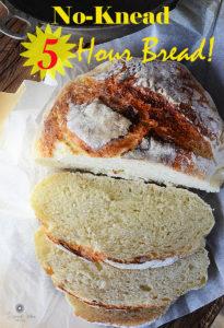 No Knead 5 hour bread