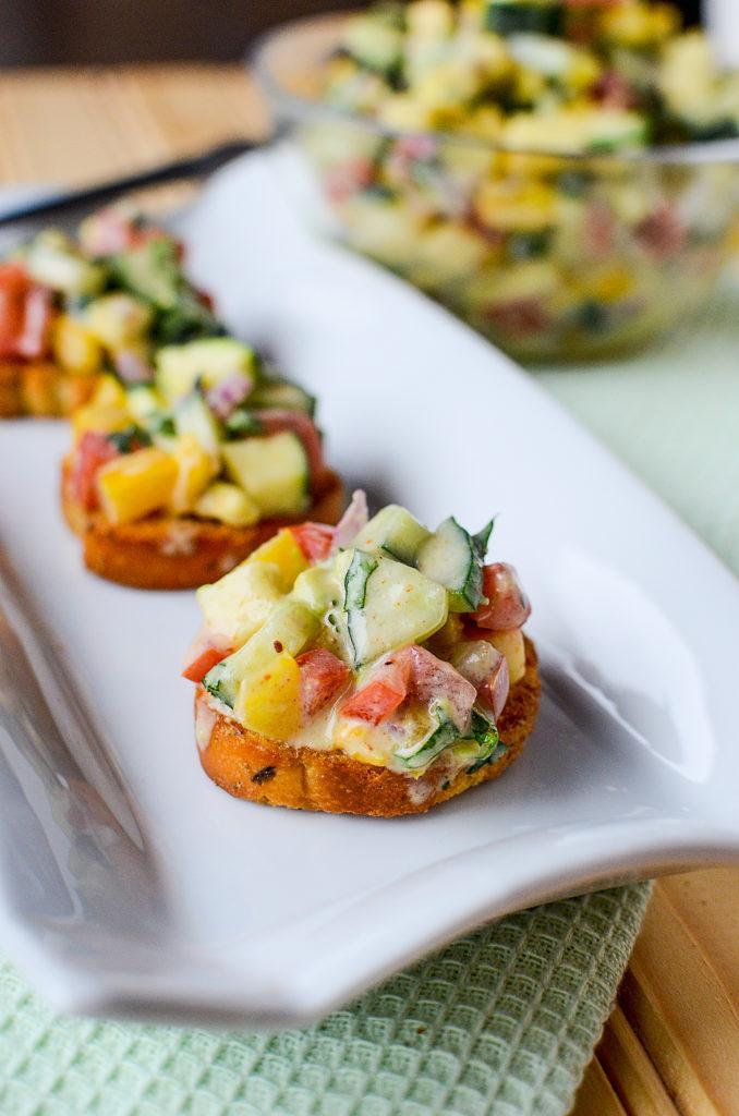 cucumber avocado salsa - fresh cucumber, creamy avocado, zesty herbs - this appetizer has it all!