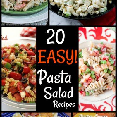 20 easy pasta salad recipes!!