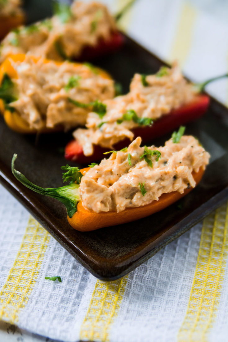 Buffalo Chicken Mini Pepper Appetizer