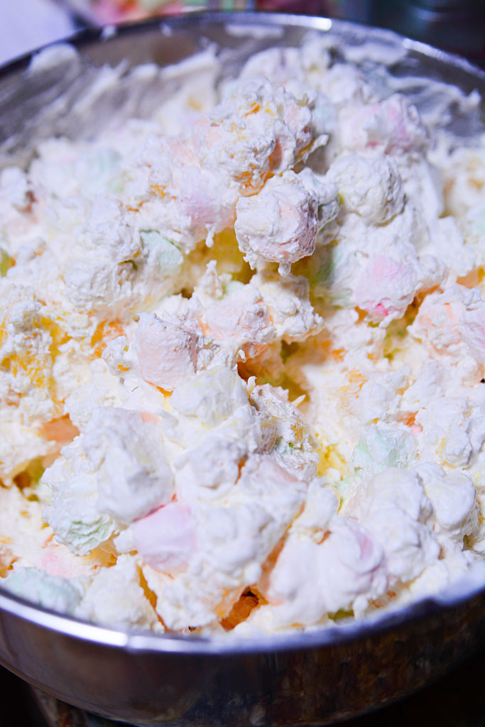 Marshmallow Cookie Trifle!! A delicious dessert with a crunchy cookie mixed with soft pudding and bouncy marshmallows piled into a dessert trifle that's perfect for any occasion, especially birthdays!!
