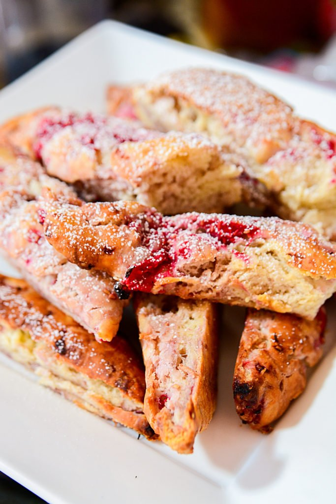 These fruity berry raspberry lime scone sticks are a perfect snack!