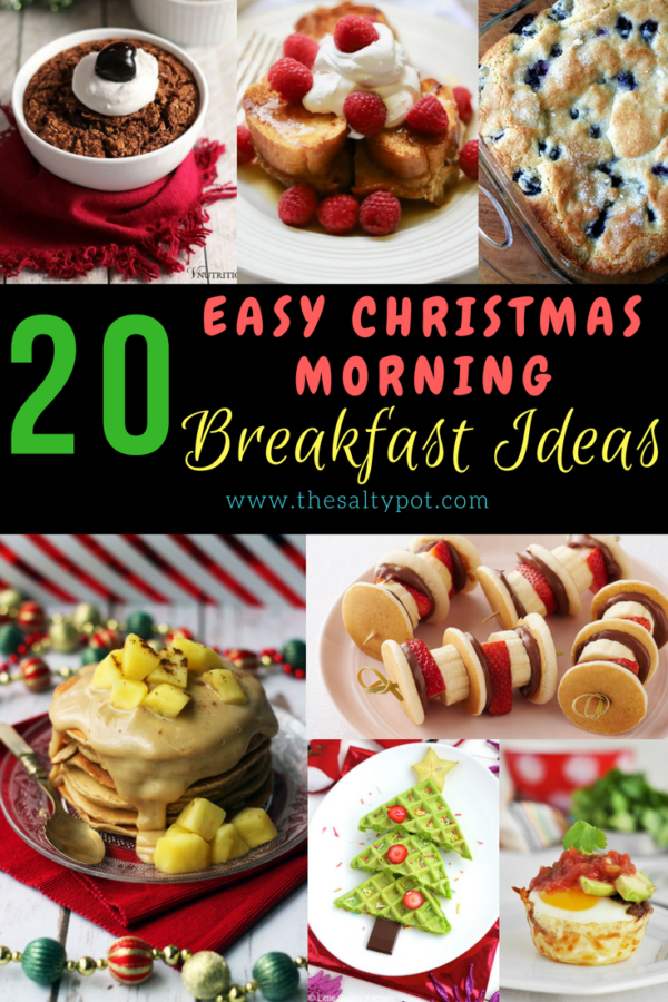 If you're looking for other breakfasts besides this eggnog bread pudding  to serve Christmas morning, check out these 20 Christmas Morning Breakfast Ideas ! - The Salty Pot