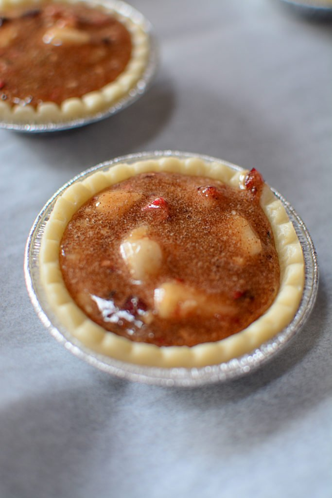 cranberry pear maple butter tarts. A truly magical creation that is sweet, buttery, a tiny bit tart and oh so yummy!