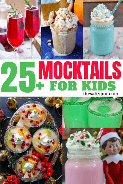 These awesome recipes for mocktails for kids are so delicious! The non alcoholic party drinks will bring a smile to every child (and maybe adult) for the festive season!
