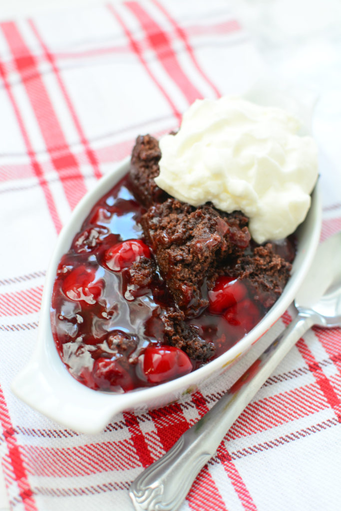 This Slow Cooker Chocolate Cherry Cake makes a delectable dessert. The rich chocolately taste with the juicy cherries make this treat a win win!!