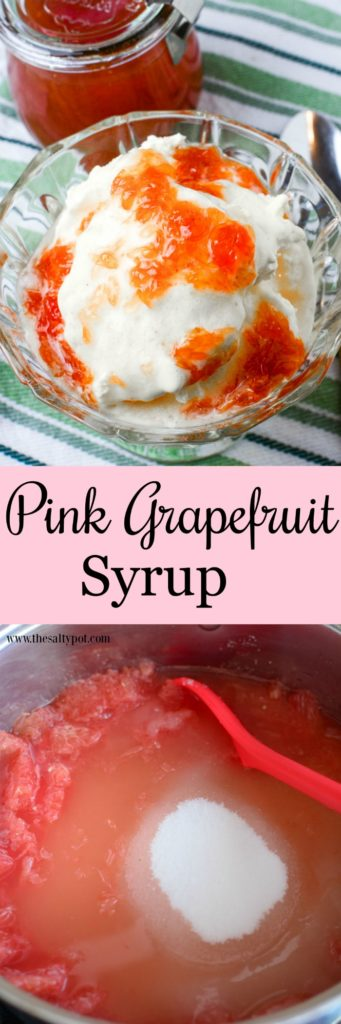 Pink Grapefruit Syrup - Like having your own bit of sweet sunshine! A perfect combination of sweet and tart!