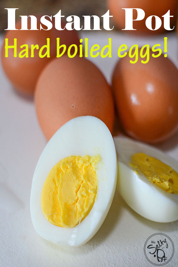 Instant Pot Hard Boiled Eggs! The easiest and quickest way to make the perfect hard boiled eggs in a pressure cooker. Peeling eggs are a dream with this method - so beautiful devilled eggs ARE possible!