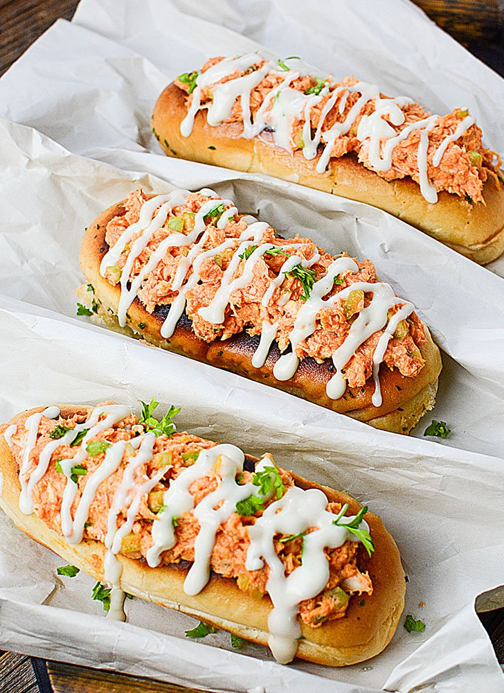 Amazing Zippy Buffalo Chicken Boats! All the flavors of Buffalo chicken wings, but with no messy fingers!!