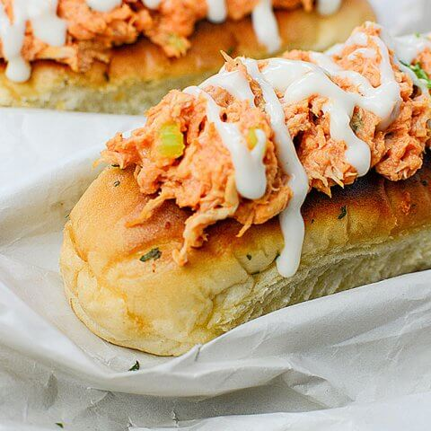 Amazing Buffalo Chicken Boats! All the flavors of Buffalo chicken wings, but with no messy fingers!!