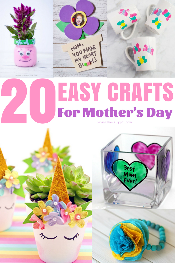 25 Easy Mother S Day Diy Crafts For Kids