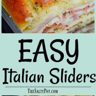 simple and super easy italian slider recipe!!