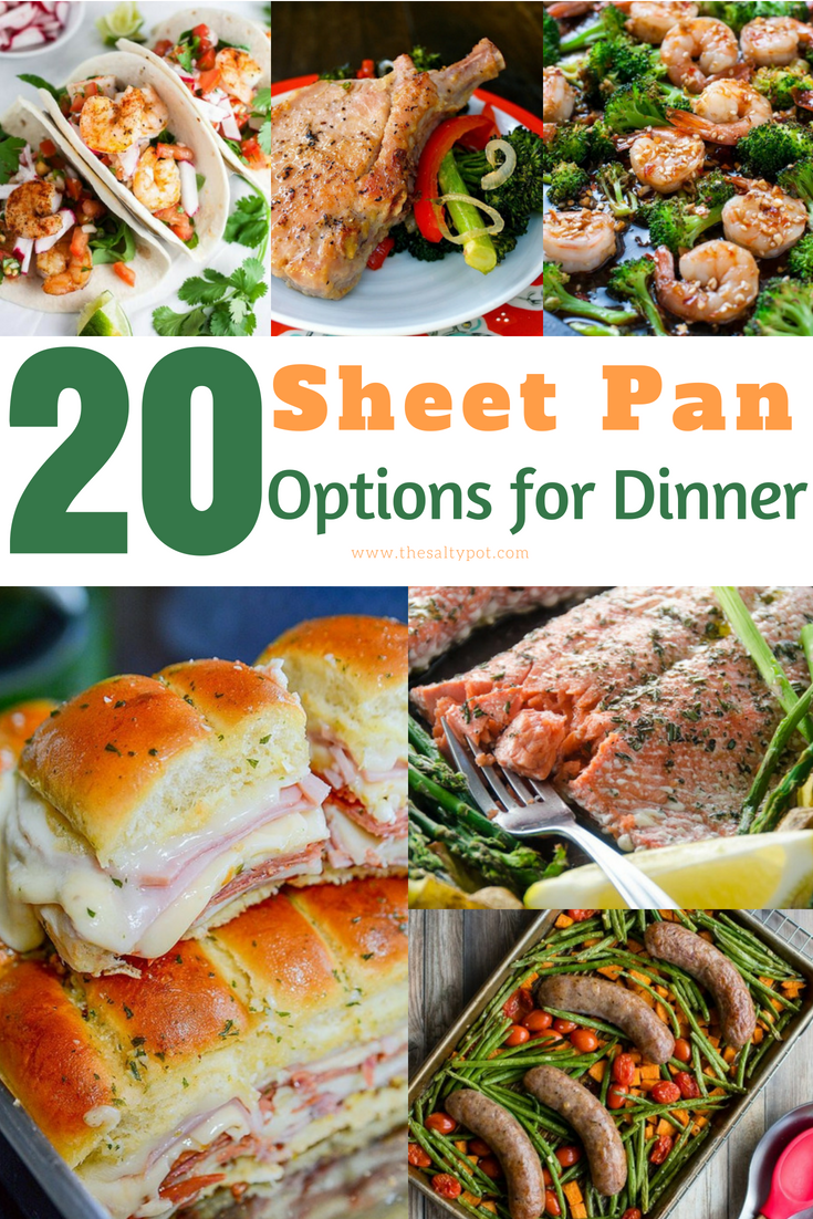 25+ sheet pan dinner options for busy nights!!