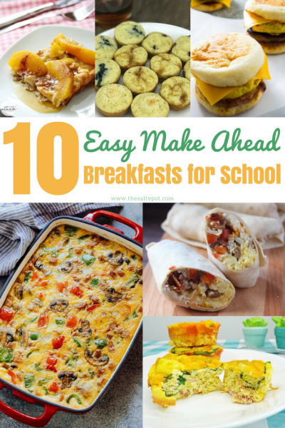 Ten easy and simple make ahead back to school breakfast ideas for kids! Easy, fun and nutritious!
