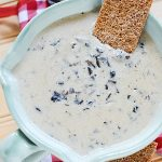 This incredible slow cooker creamy mushroom soup is just as tasty and comforting as store bought cream of mushroom soup but the difference is that you can pronounce all the ingredients and it really IS wholesome.