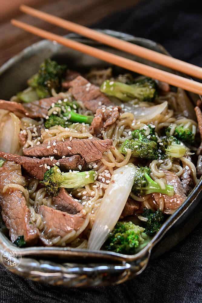 Easy Skillet Been and Broccoli Ramen Recipe