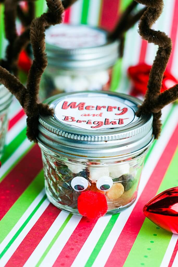Adorable Reindeer Diy Hot Chocolate Gift With A Free Printable Label The Salty Pot