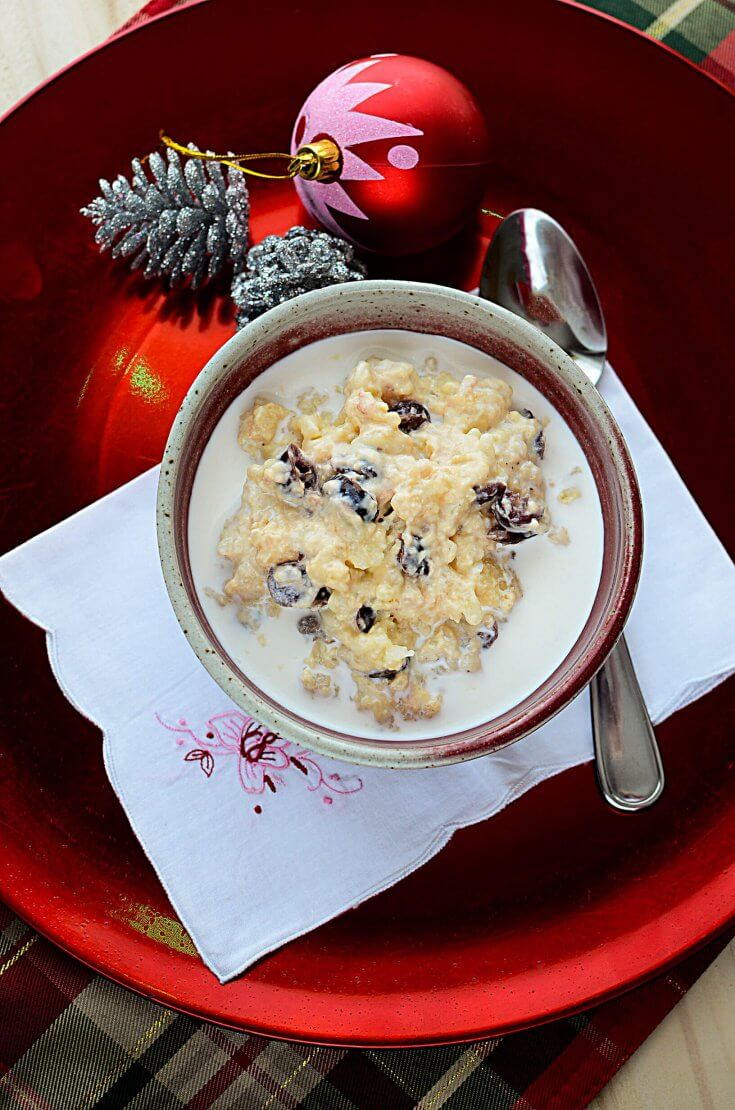 Instant Pot Eggnog and Cranberry Rice Pudding