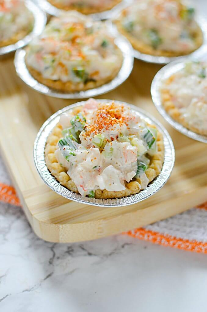 "Last minute plans to have a party, and you need to come up with an appetizer? Make this easy peasy Shrimp and Asparagus Tarts"" recipe! - The Salty Pot"