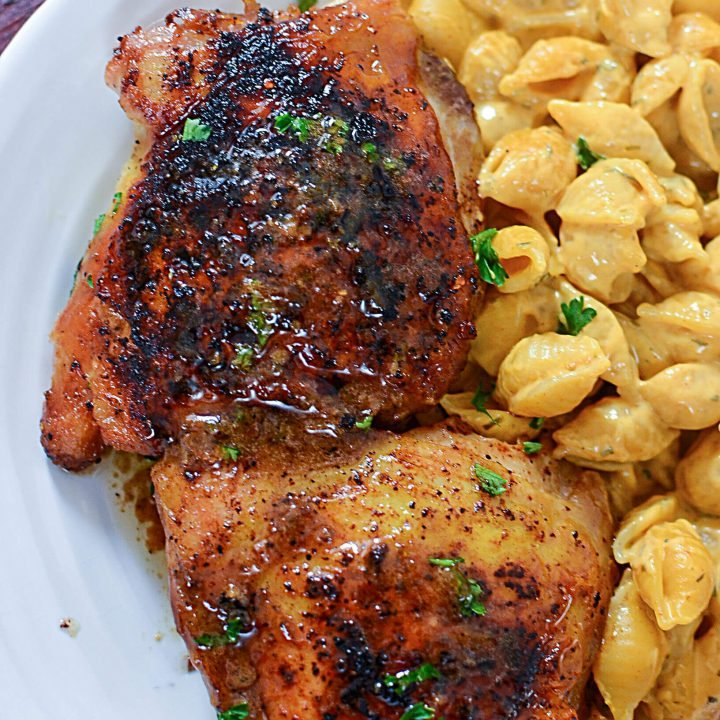 CHICKEN THIGHS WITH LEMON BUTTER SAUCE