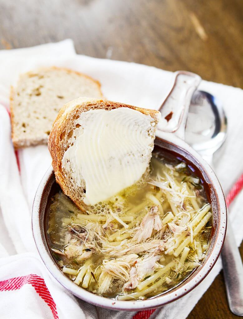 This is a 'from scratch' way to make a basic chicken noodle soup, but I will also tell you all the ways you can adjust the chicken noodle soup recipe to fit your needs and tastes. - The Salty Pot