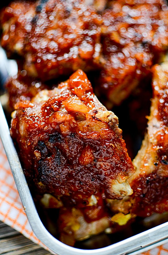 Pineapple BBQ Instant Pot Ribs - Fingerlicking good ribs ready to eat.