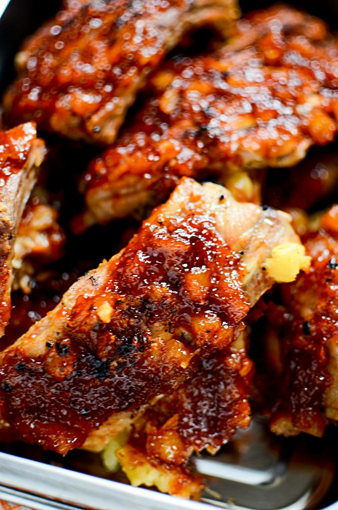 Pineapple BBQ Instant Pot Ribs - Plump, moist ribs.
