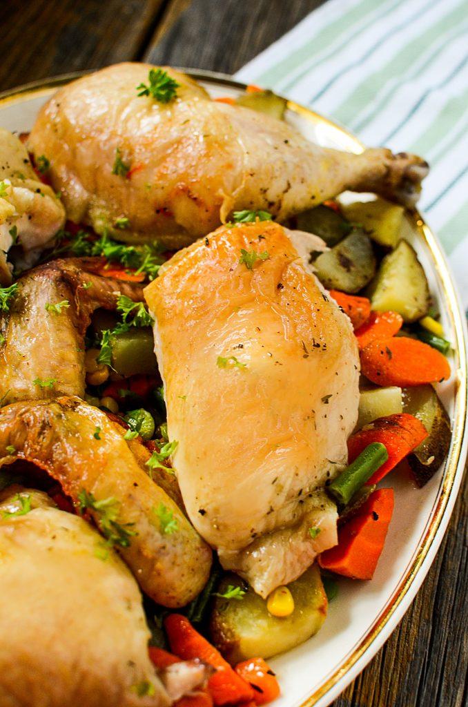 Oven Roasted Bundt Pan Chicken The Salty Pot