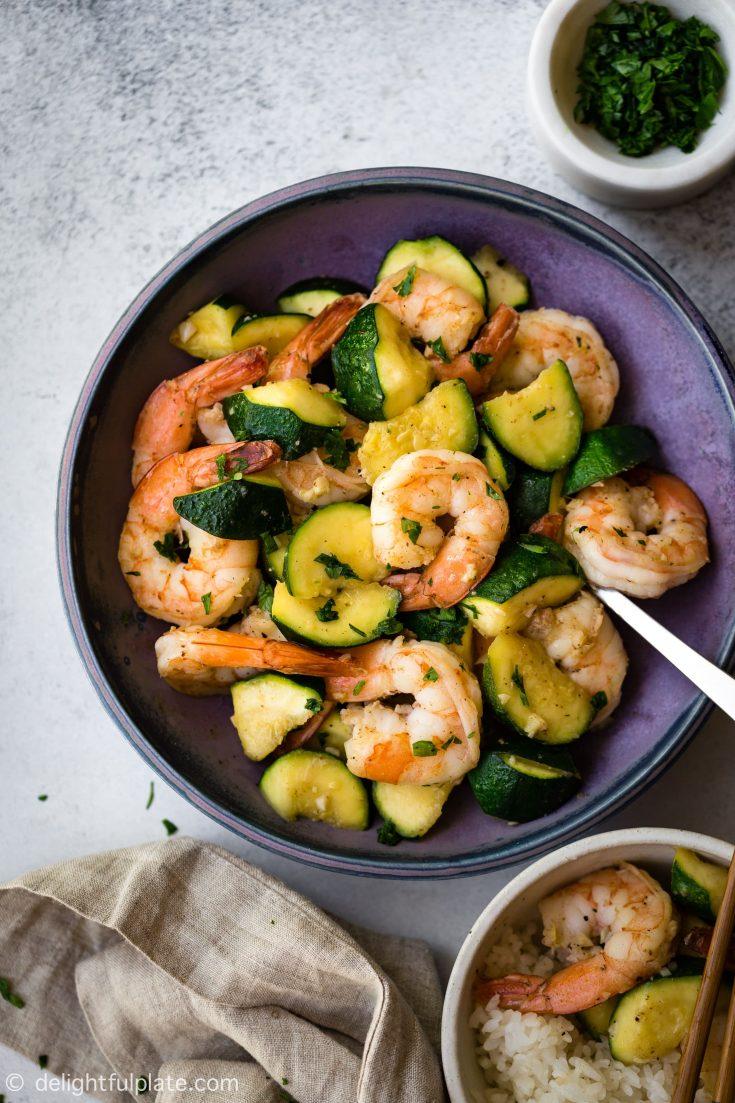 Freaking Fast Sautéed Shrimp with Zucchini