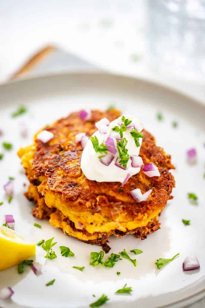Keto Zucchini Fritters - Low Carb & Gluten Free