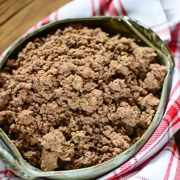 HOW TO COOK FROZEN GROUND BEEF IN INSTANT POT