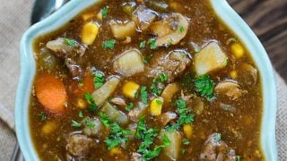 HEARTY INSTANT POT BEEF STEW {Freezer Meal!}