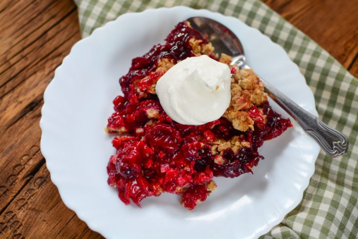 SUMMERTIME SOUR CHERRY CRISP