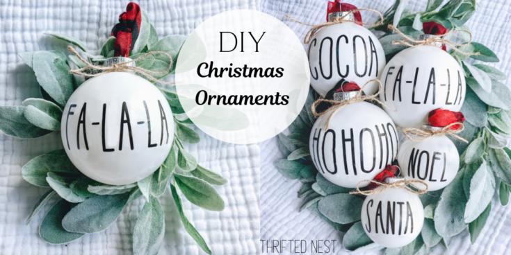DIY Dollar Tree Christmas Ornaments
