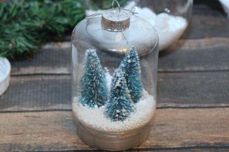 Mini Mason Jar Christmas Ornament