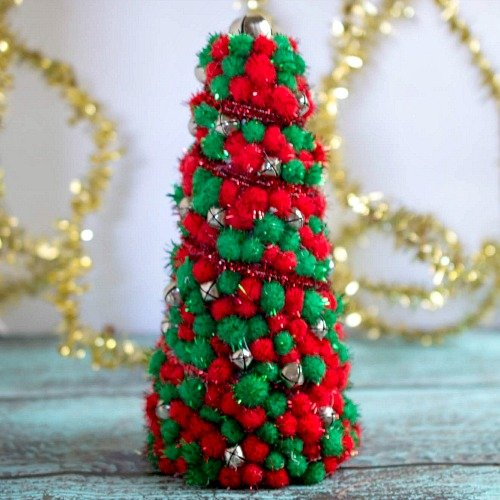 DIY Dollar Store Christmas Tree Centerpiece- A Cultivated Nest