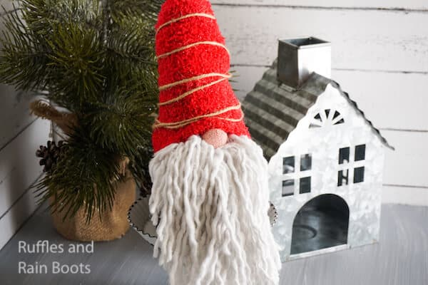 Make an Adorable Dollar Store Gnome with this Quick Tutorial!