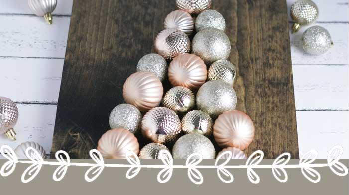 DIY Christmas Ornament Tree Sign (a $4 Christmas Decoration)
