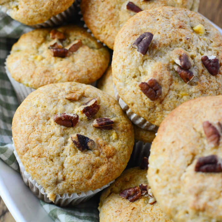 3 INGREDIENT BANANA MUFFINS WITH PECANS