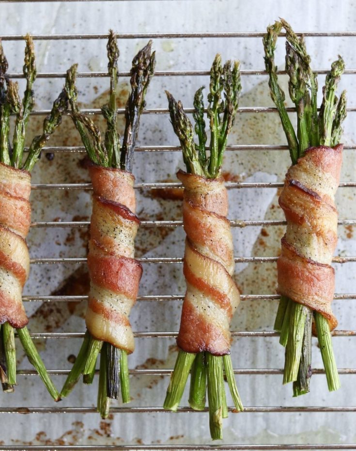 Whole30 Bacon Wrapped Asparagus (Low Carb) - Cook At Home Mom