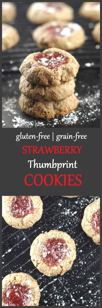 Paleo Strawberry Thumbprint Cookies