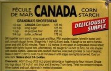 I love all things vintage and those goes for this little photo of the side of the Canada Cornstarch Box!
