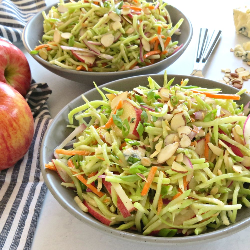 This Broccoli and apple side slaw would be excellent along with the roast beef!